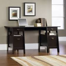 sauder stockbridge executive trestle desk jamocha wood walmart com
