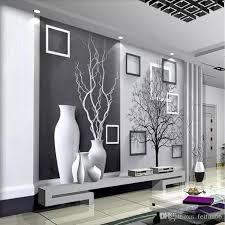 großhandel 3d moderne minimalistische kunst tapete partition veranda wandbild tv hintergrund wand wohnzimmer sofa tapete schwarz weiß baum
