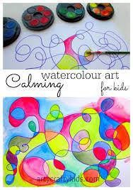 Calming Watercolour Art Crafts For KidsArt