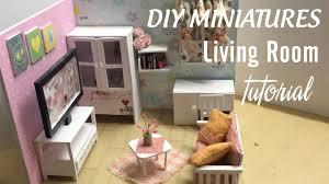 Home Furniture Style Room Diy by Diy Dollhouse Miniature Living Room Diy Furniture Set Tutorial