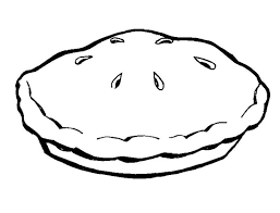 Pie clipart black and white 3