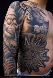 Aztec Eagle Warrior Head Tribal Tattoos Designs