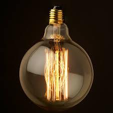 vintage edison spherical tungsten filament bulb g125