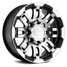 Amazon.com: Vision Warrior 375 Gloss Black Machined Face Wheel (17x8 ...