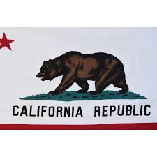 California Flag Black And White Beautiful Vintage Republic State Bear