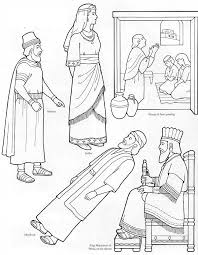 Esther Coloring Page Flannel Board Figures