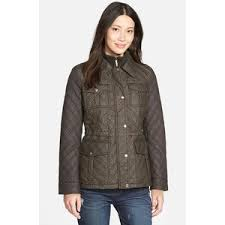MICHAEL Michael Kors Quilted Field Jacket with Bib Inset Polyvore