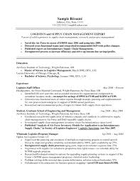 Supply Chain Management Resume Objective Updated Rh Madiesolution Com Data Examples