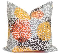 OUTDOOR Orange Pillows Outdoor Pillow Covers Pillow Cover