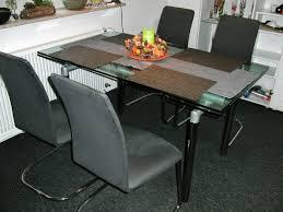 glastisch ausziehbar mit 4 stühle