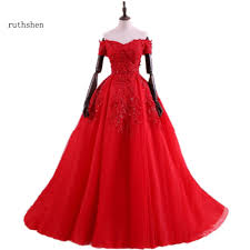 popular red ball gown prom dresses for plus size buy cheap red