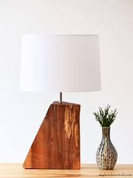 DIY Rustic Natural Wood Table Lamp