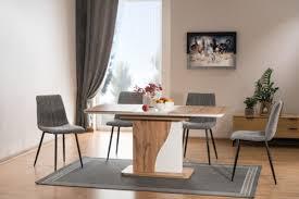 casa padrino designer esstisch naturfarben matt weiß 120 160 x 80 x h 76 cm moderner rechteckiger ausziehbarer küchentisch küchen möbel