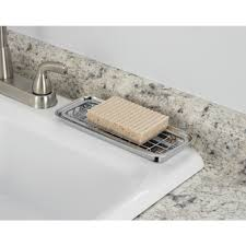 Sink Protector Mat Uk by Interdesign Polished Regular Gia Sink Grid With Hole Grey Amazon