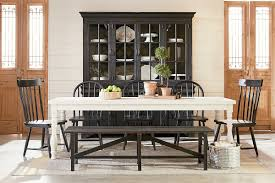 Farmhouse Dining Room Table And Bench