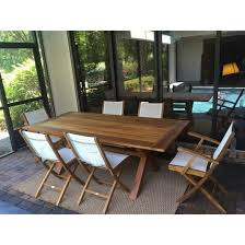 Teak Wood Cross Indoor/Outdoor Dining Table 87
