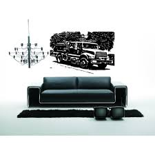 Shop Fire Truck On The Nature Wall Art Sticker Decal - Free Shipping ...