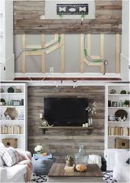 How To Hide Wall Mount TV Wires With A Pallet Or Shiplap
