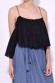 sanna cropped camisole in black