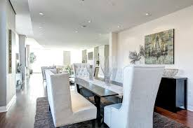 White Dining Banquette Seating On Room Table With