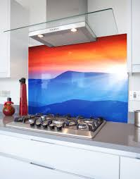 Home Decor Large Size Kitchen Splashbacks Acrylic Perspex Glass Splash Blue Ridge Mountains Printed Hob