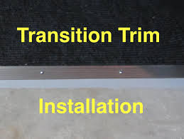 Vinyl Tile To Carpet Transition Strips by Carpet Transition Trim Installation Carpet To Concrete Youtube
