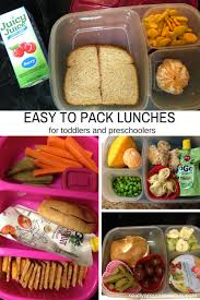 Easy To Pack Lunches For Toddlers And Preschoolers
