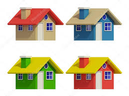 100 Four Houses Set Of Four Houses With Color Changes Stock Photo Teerawit 75541515
