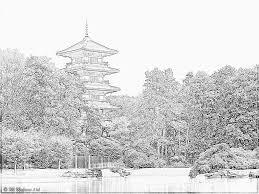 Coloring Tour The Japanese Garden Of Royal Castle La