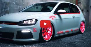 Amazing VW Golf 7 2013 Light Tron Tuning Showcar