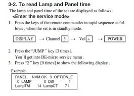 Sony Sxrd Lamp Kds R60xbr1 by Solved Reset Lamp Hours On Sony Kds R50xbr1 Sxrd Tv Fixya