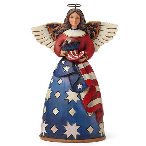 Enesco Figurine, Patriotic Angel/Flag