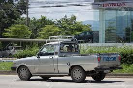100 Mazda Mini Truck CHIANG MAI THAILAND AUGUST 28 2017 Private Car Family