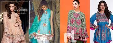 Latest Pakistani Fashion Trend Of Medium Shirts With Cigarette Pants