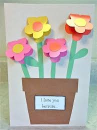 Motheramp039s Day Construction Paper Vase