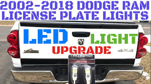 100 Truck License 20022018 Dodge Ram Plate Light ReplacementInstallation