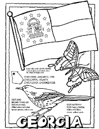 Georgia USState Coloring Page