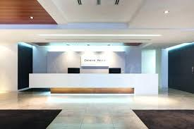 Contemporary Reception Desk Modern Front Design Office Backdrop