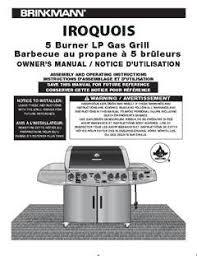 Brinkmann Electric Patio Grill Manual by Brinkmann 5 Burner Gas Grill Walmart Com