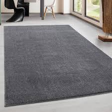 teppich kurzflor modern wohnzimmer einfarbig meliert uni günstig hellgrau größe 60x100 cm