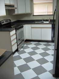New Kitchen Floor Gray And White Checkerboard