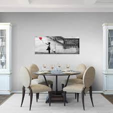 möbel wohnaccessoires bilder banksy leinwand bild