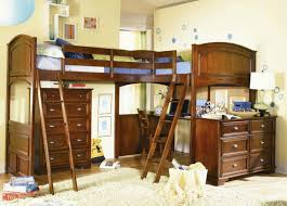 Desk Bunk Bed Combination by Bedroom Brown Wooden L Shape Twin Loft Bed With Ladder And Desk