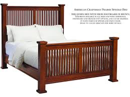 Spindle Headboard And Footboard by American Craftsman Prairie Spindle Bed With High Footboard