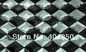 12x12 Mirror Tiles Beveled by Silver Mirror Glass Mosaic Tile Backsplash Tiles Adhesive Beveled