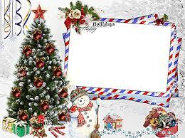 Cartoon Christmas Frame Background Material