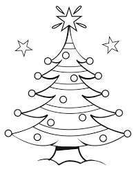 Christmas Tree Coloring Pages Printable Free For Kids Image