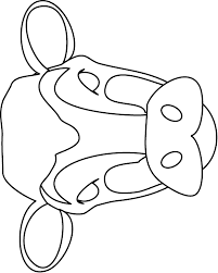 Image Detail For Cow Mask Colouring Pages