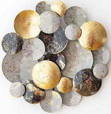 dio wanddeko metall 3d wandornament rund ø 30 cm wandskulptur gold schwarz grau metallbild als perfekte deko für wohnzimmer schlafzimmer büro