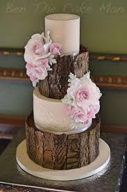 Rustic Bark Wedding Cake